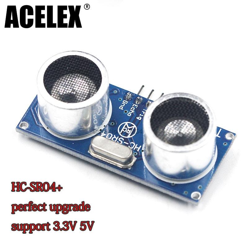 цена на Ultrasonic Module HC-SR04+ Distance Measuring Transducer Sensor HC-SR04 perfect upgrade support 3.3V work