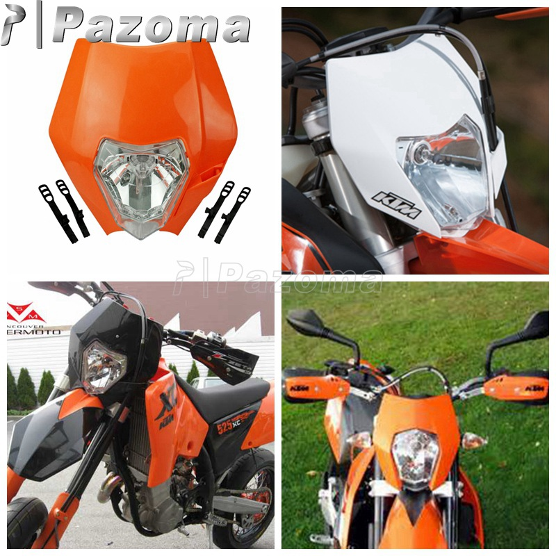 Motorcycle Orange Headlight Fairing Motocross Universal Headlamp For KTM SX SXF EXC EXCF 125 200 250 350 450 XCF SMR