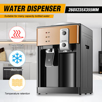 AUGIENB Electric Water Dispensers Desktop Cold Hot Ice Water Cooler Heater Drinking Fountain Home Office Coffee Tea Bar Helper