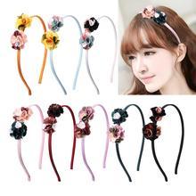 2019 Fashion Girl Hair Band Beautiful Flowers Headband Boutique Printed Handmade Hairbands Children Accessories