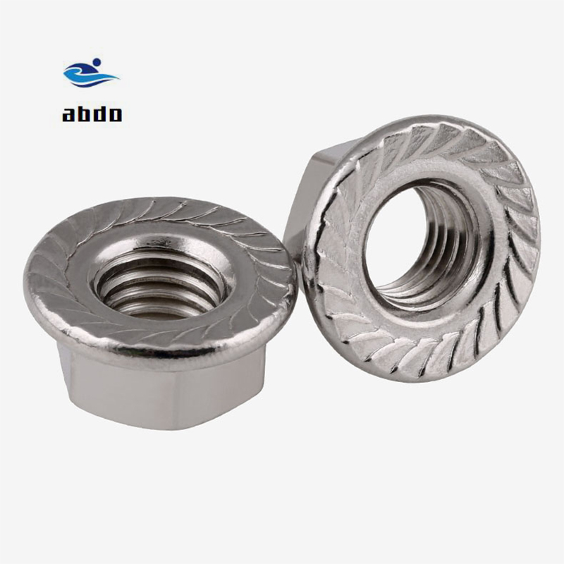 M3 M4 M5 M6 M8 M10 M12 Metric Thread Hex Flange Nuts DIN6923 Stainless Steel SS304 Sets Durable Wholesale M6 20Pcs