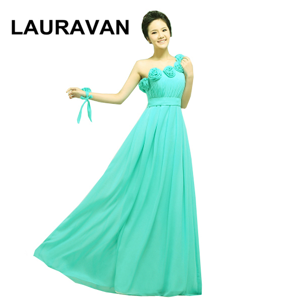 03b1551e85f03 US $60.33 5% OFF|women one shoulder floor length green chiffon bridesmaid  gown party dresses long womens grecian dress gowns 2018 free shipping-in ...