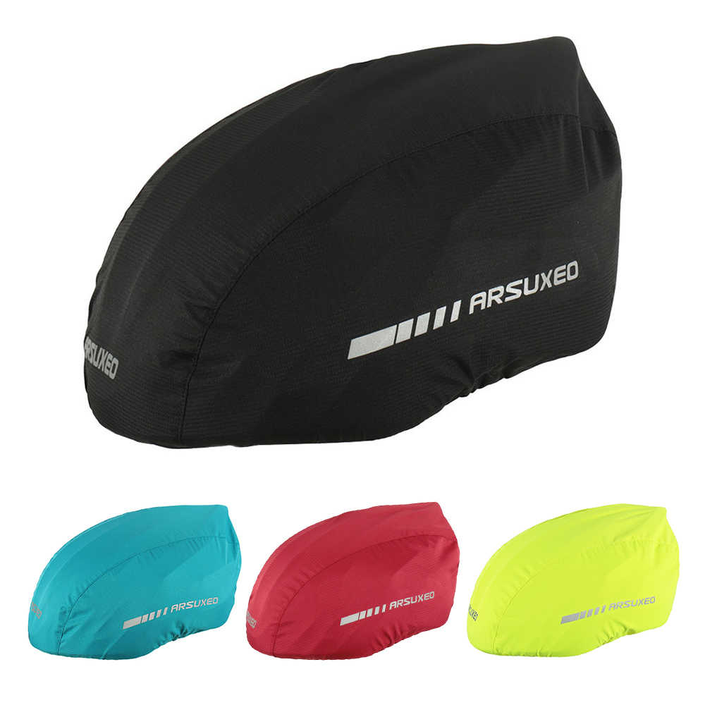 Waterproof Bike Helmet Cover with Reflective Strip Cycling Bicycle Helmet Rain Cover Road Bicycle Helmet Water Snow Cover