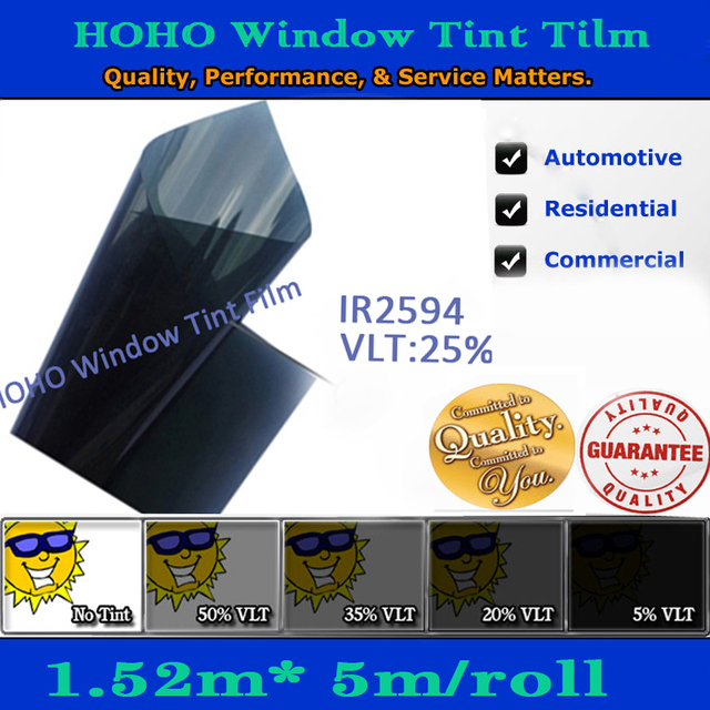 59'x196' popular product heat insulation window film car solar film from 5% to 70% light tansmittance