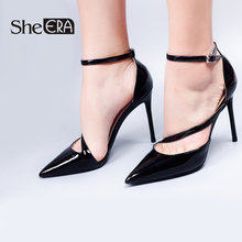 She ERA Brand Shoes Woman High Heels Pumps 6/8/10cm Black/Nude Women Wedding Casual Female Footwear