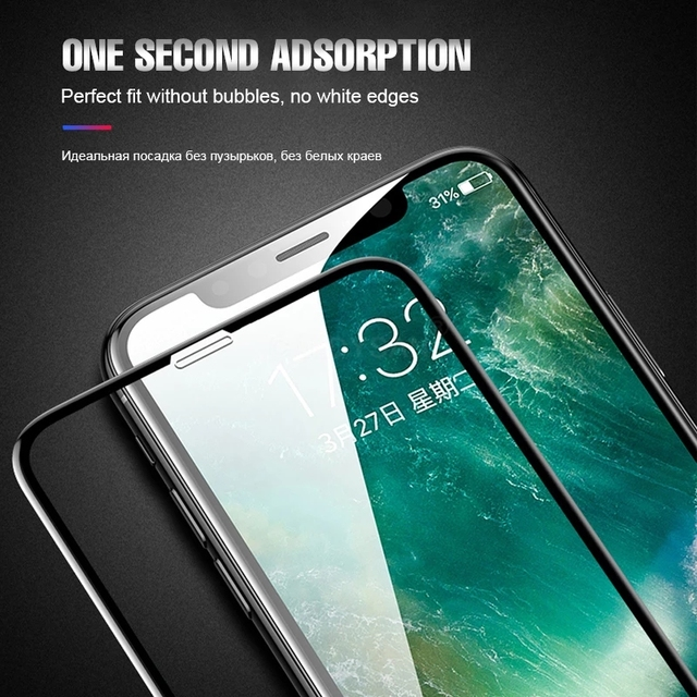 Suntaiho 10D protective glass for iPhone X XS 6 6S 7 8 plus glass screen protector for iPhone 7 6 X XR XS MAX screen protection 1
