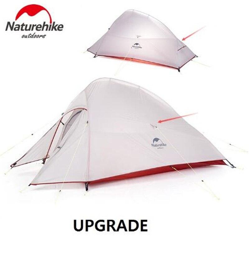 NatureHike Nuage Up 1 2 3 Personne Tente Ultra-Léger 20D Silicone Tissu Tentes tente de camping D'hiver En Plein Air tente de camping Avec Tapis - 5