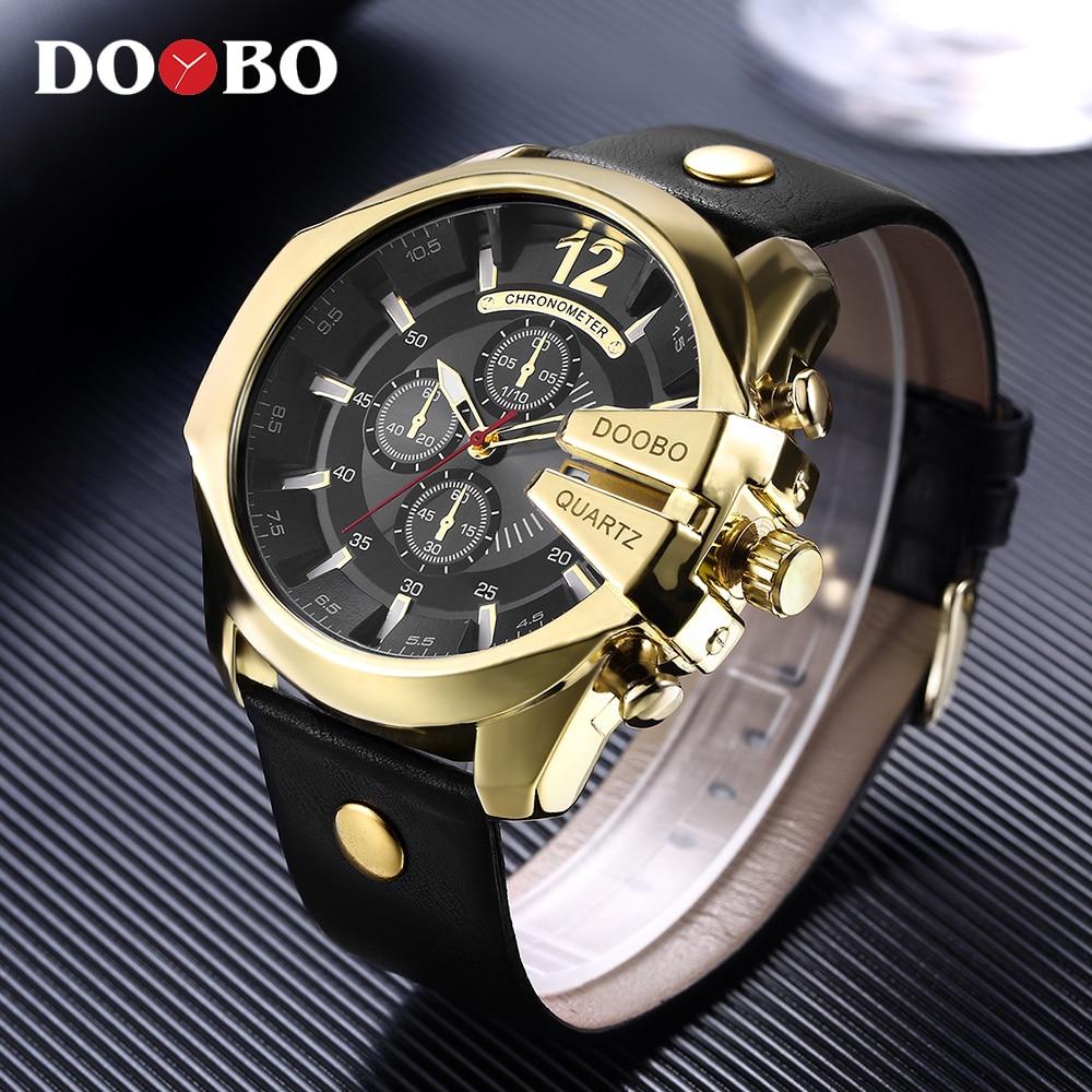 DOOBO Men's Sports Quartz Watch Men Top Brand Luxury Designer Watch Man Quartz Gold Clock male Fashion Relogio Masculino Date