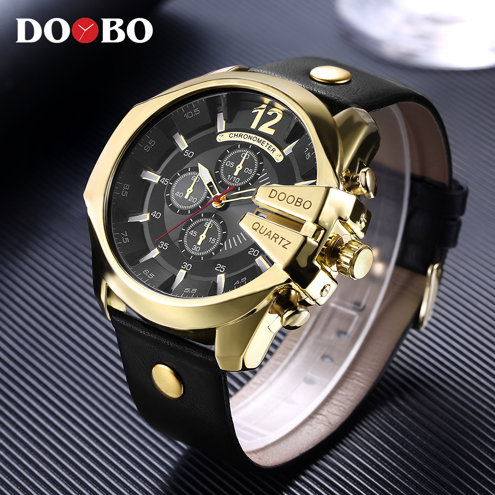 DOOBO Men's Sports Quartz Watch Men Top Brand Luxury Designer Watch Man Quartz Gold Clock male Fashion Relogio Masculino Date