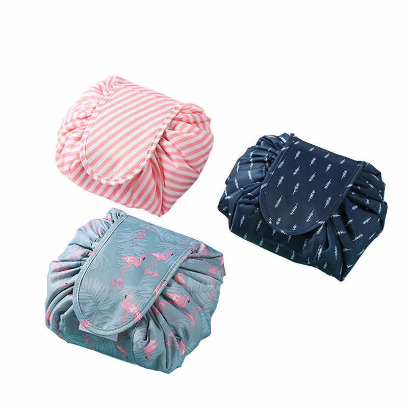 Women Drawstring Cosmetic Bag Fashion Hanging Travel Makeup Organizer Make  Up Case Storage Pouch Toiletry Beauty 3edb67cb8c4b1