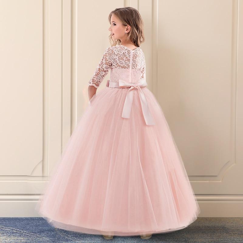 HTB1qR9ZRIfpK1RjSZFOq6y6nFXad Vintage Flower Girls Dress for Wedding Evening Children Princess Party Pageant Long Gown Kids Dresses for Girls Formal Clothes