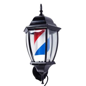 Professional Rotating Barber Pole Light Lamp US Plug Red & Blue & White Hairdressing Salon Hairdressing Shop Light