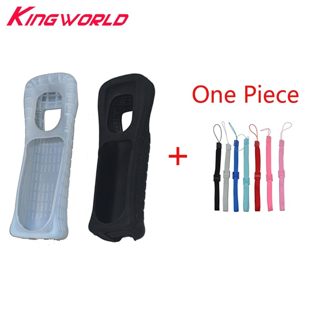 Høj kvalitet et par silikone gummi taske med håndrem til Wii fjernbetjening Soft Silicone Skin Shell