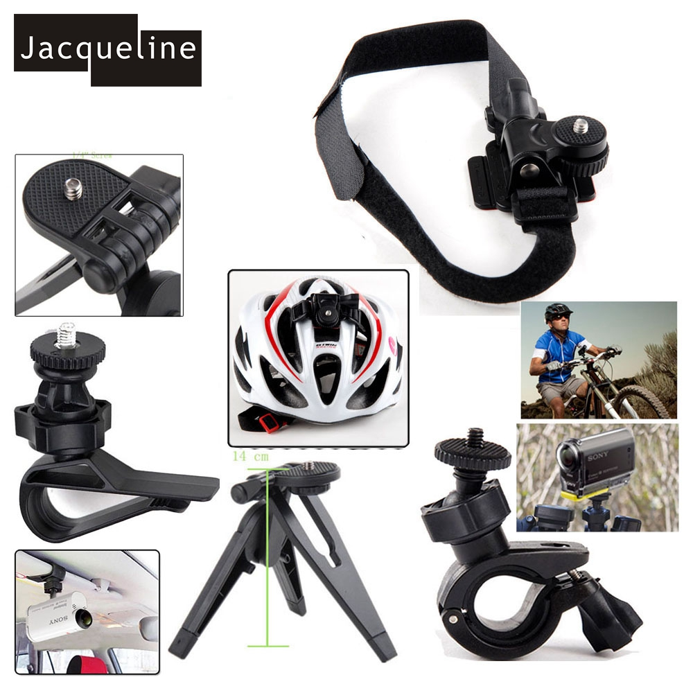 Jacqueline for Accessories Kit Helmet Handlebar Tripod Mount for Sony Action Cam HDR-AS15 AS20 AS200V AS30V AS100 AZ1 mini