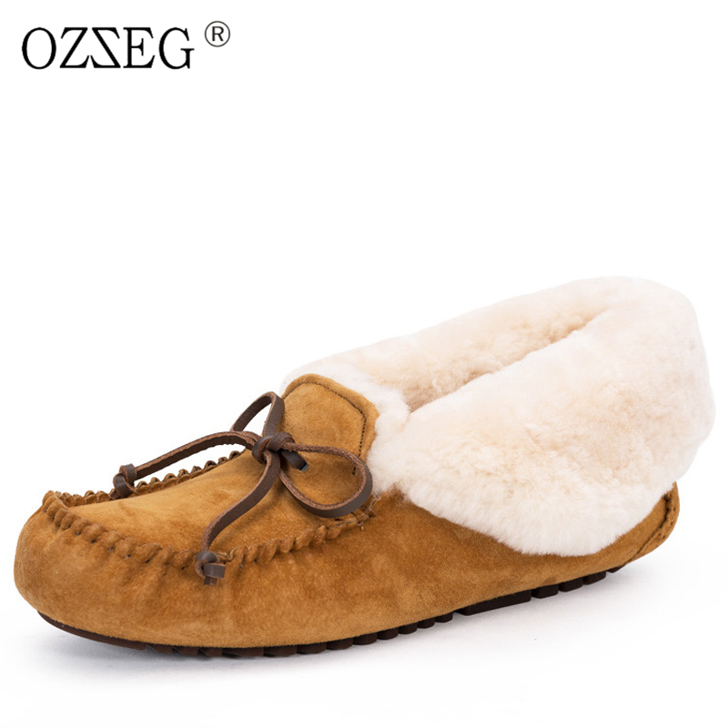 2018 Female winter warm pigskin lined real wool fur australia snow boots furry booties Moccasins Gommino far shoes women Eskimo 50pcs ch340g ch340 sop 16 new original