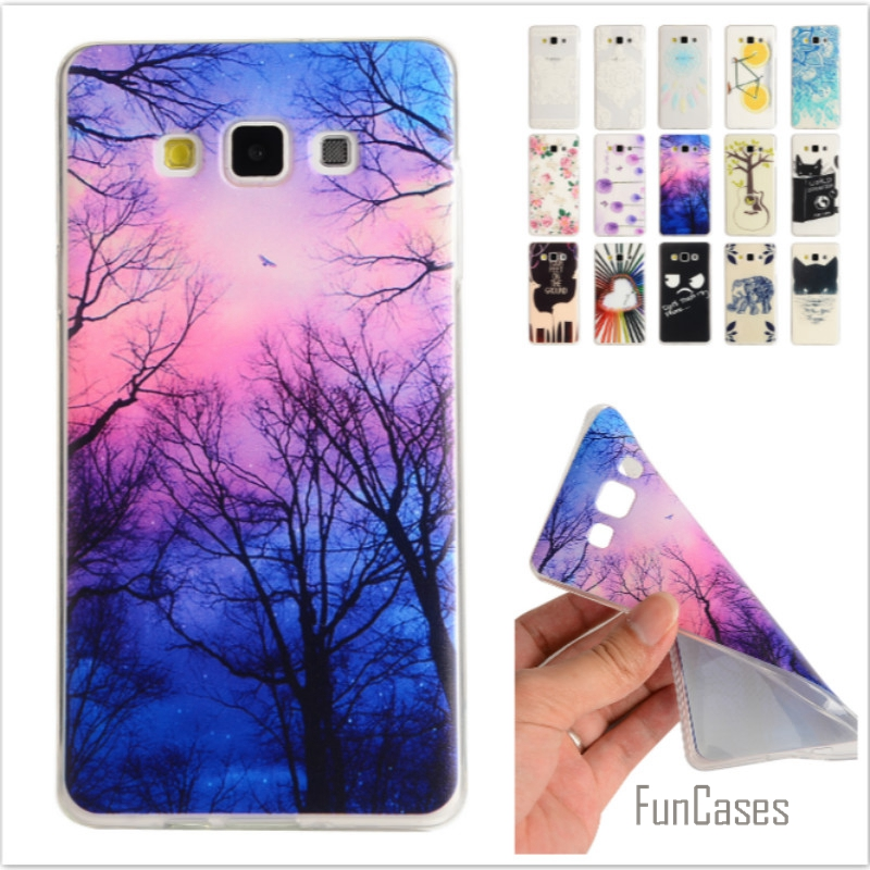 Cartoon Lemon Bike Tree painted Rubber Back Cover Silicon Gel Soft TPU mobile phone case For Samsung Galaxy A3 A3000 A300