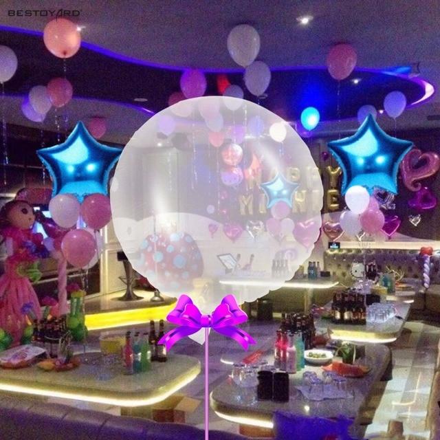 24 Pouce BRICOLAGE Confettis Ballons Parti Clair Transparent Mylar Ballons Pour  Anniversaire Mariage Fête Décoration