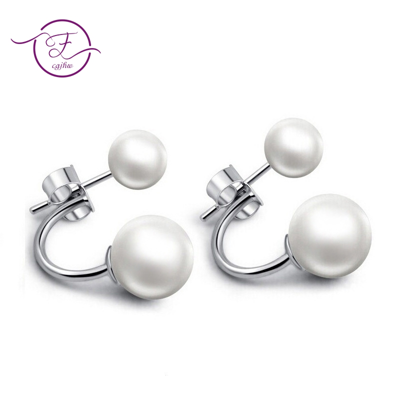 Specail Design Freshwater Pearl Earring High Quality Sterling Silver 925 Stud Earrings For Women Fashion Wedding Engagement Gift