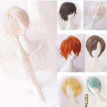 Místico messenger cosplay harajuku peruca de cabelo encaracolado 707 yoosung zen v japonês cabelo traje luciel choi zen jumin han unisex peruca