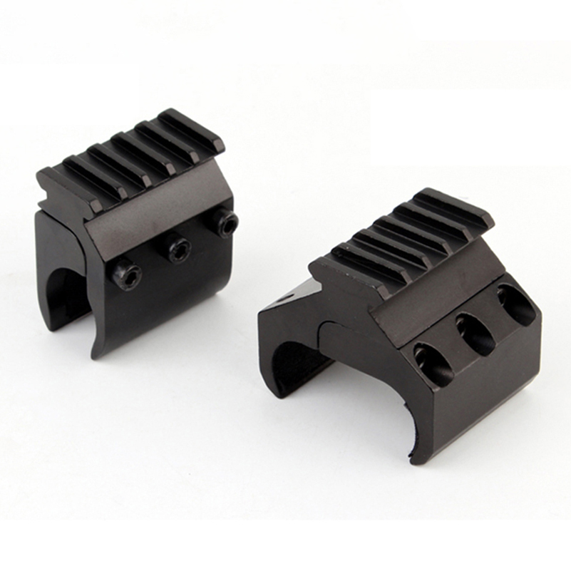 Image 3 - 1pc 2 Styles Single/Double Tube Shotgun Picatinny Rail Adaptor for 20mm Rail Mount Hunting Tactical Accessories-in Scope Mounts & Accessories from Sports & Entertainment