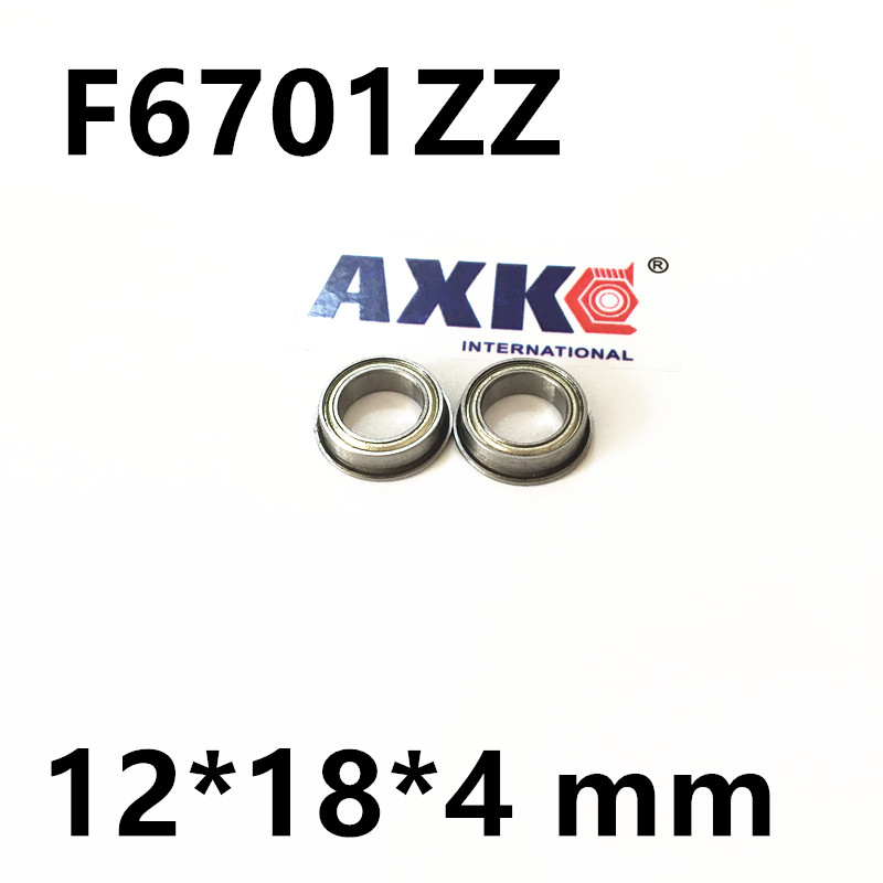 F6701ZZ  12x18x4mm Flange Thin Wall Deep Groove Ball Bearing Miniature Bearing  F6701 ZZ  12*18*4 mm (12*18*19.5*4*0.8 mm) gcr15 6326 zz or 6326 2rs 130x280x58mm high precision deep groove ball bearings abec 1 p0