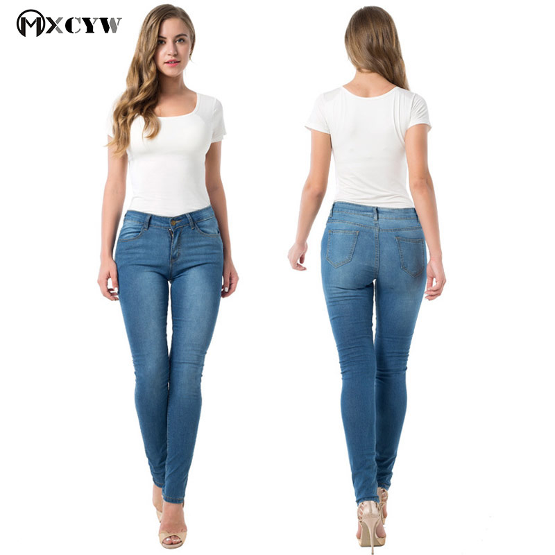 Jeans Women Skinny push up Jeans blue Denim slim Pencil Pants Stretch Women Jeans plus size sexy Pants Skinny High Waist Jeans 4xl plus size high waist elastic jeans thin skinny pencil pants sexy slim hip denim pants for women euramerican