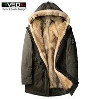 Волк мех для мужчин толстые Куртки длинные пальто дизайнер fashin путешествия для преодоления зимние теплые роскошные куртки с капюшоном