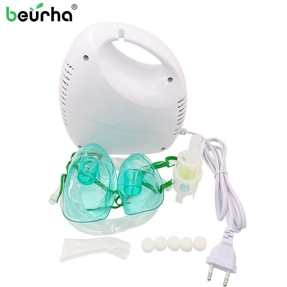 1 Set Mini Household Adult Child Asthma Air Compressor Nebulizer Medical Inhaler Respiratory Ultrasonic Nebulizer Health