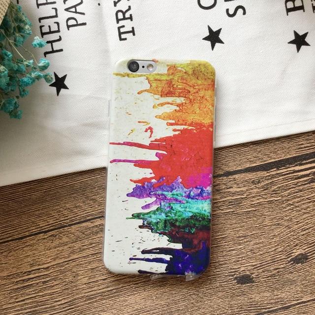 Case iPhone artystyczne akwarele różne wzory 5/5S 6/6S 6/6S plus 7/7plus