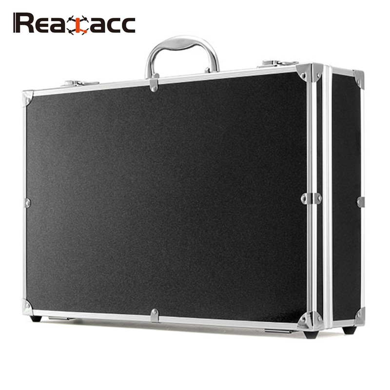 Realacc Aluminum Suitcase Carrying Box Case for Hubsan H501S X4 RC Quadcopter Standard Version free for shipping black abs hard shell backpack case bag for hubsan x4 h501s quadcopter brand new high quality may 2