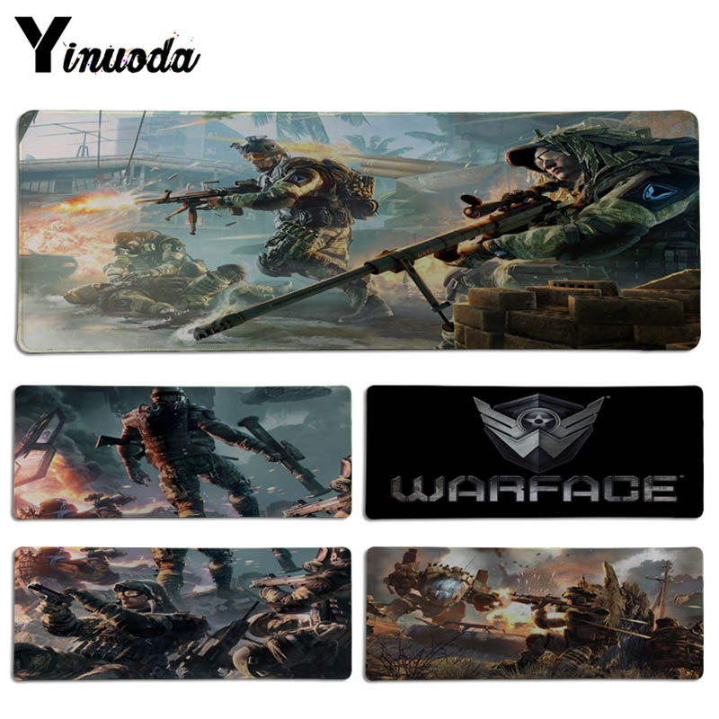 Yinuoda Warface Unique Desktop Pad Game Lockedge Mousepad Size for 30x90CM Speed Version ...