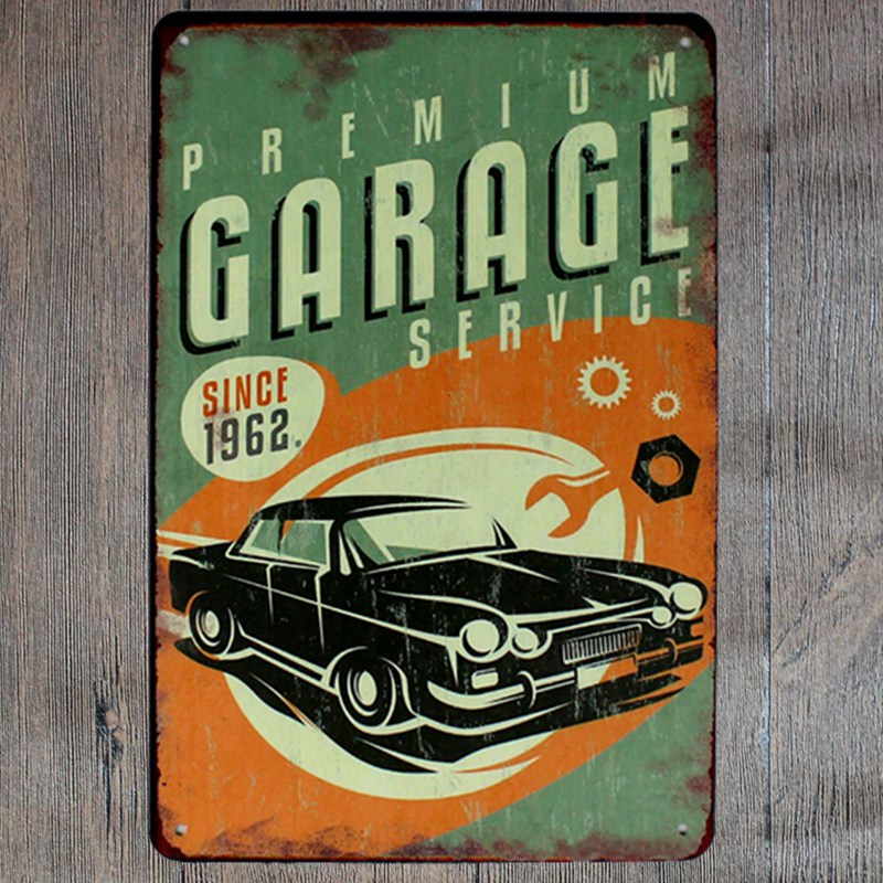 hohappyme MY GARAGE MY TOOLS MY RULES Plaque Signs Metal Wall Art ...