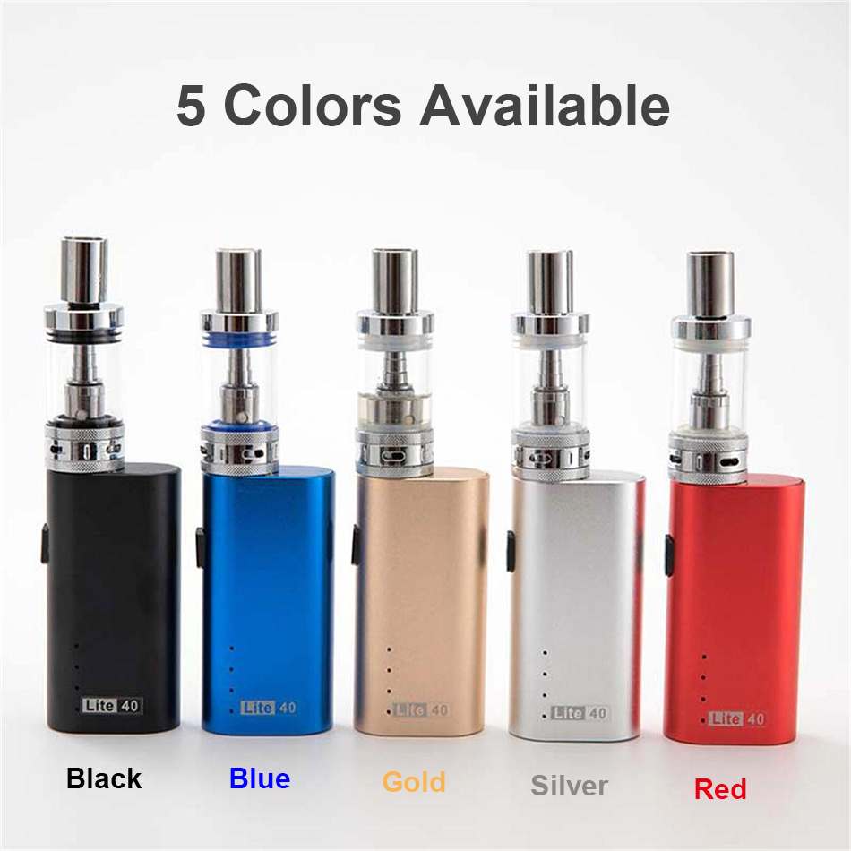 , ZZtech Original Electronic Cigarette lite40 0.5ohm vape kit 2200mah vape mod box lite 40w 510 thread 3.0ml vape tank Vapor Kit
