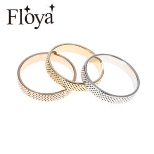 Floya Knit Rings For Women Accessories Stainless Steel Ring Inner Filled Combination Interchangeable Ringen Bague Acier