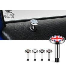2 pçs estilo do carro pino da porta decoração capa parafuso círculo guarnição para bmw mini coopers um f54 f55 f56 f60 r55 r56 r60 r61 acessórios