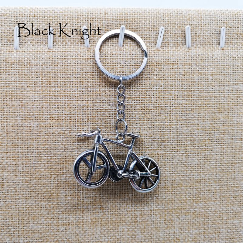 Vintage silver color stainless steel 3D Bike bicycle keychains keyrings mens women fashion bicycle charm key chains BLKN0466-KC
