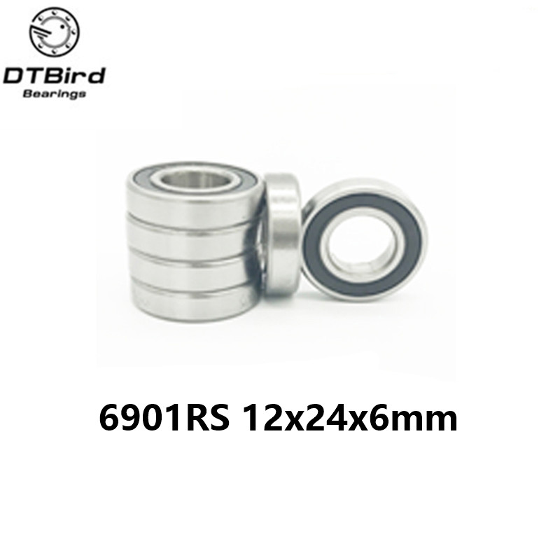 10 pcs 6901 2RS Deep groove ball bearing,bearing steel 12X24X6 mm carbon steel 62mm x 35mm x 14mm rollerblade deep groove ball bearing 6007 2rs