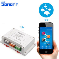 Sonoff 4CH Wifi Smart Switch Universal Remote Intelligent Switch Interruptor 4 Channel Din Rail Mounting Smart