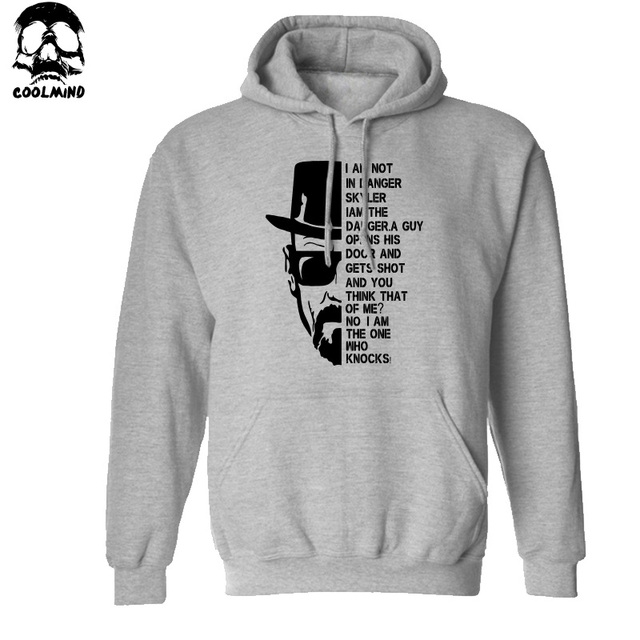 Top quality Breaking bad print men sweatshirt with hat 2016 heisenberg print cotton blend men hoodies H01