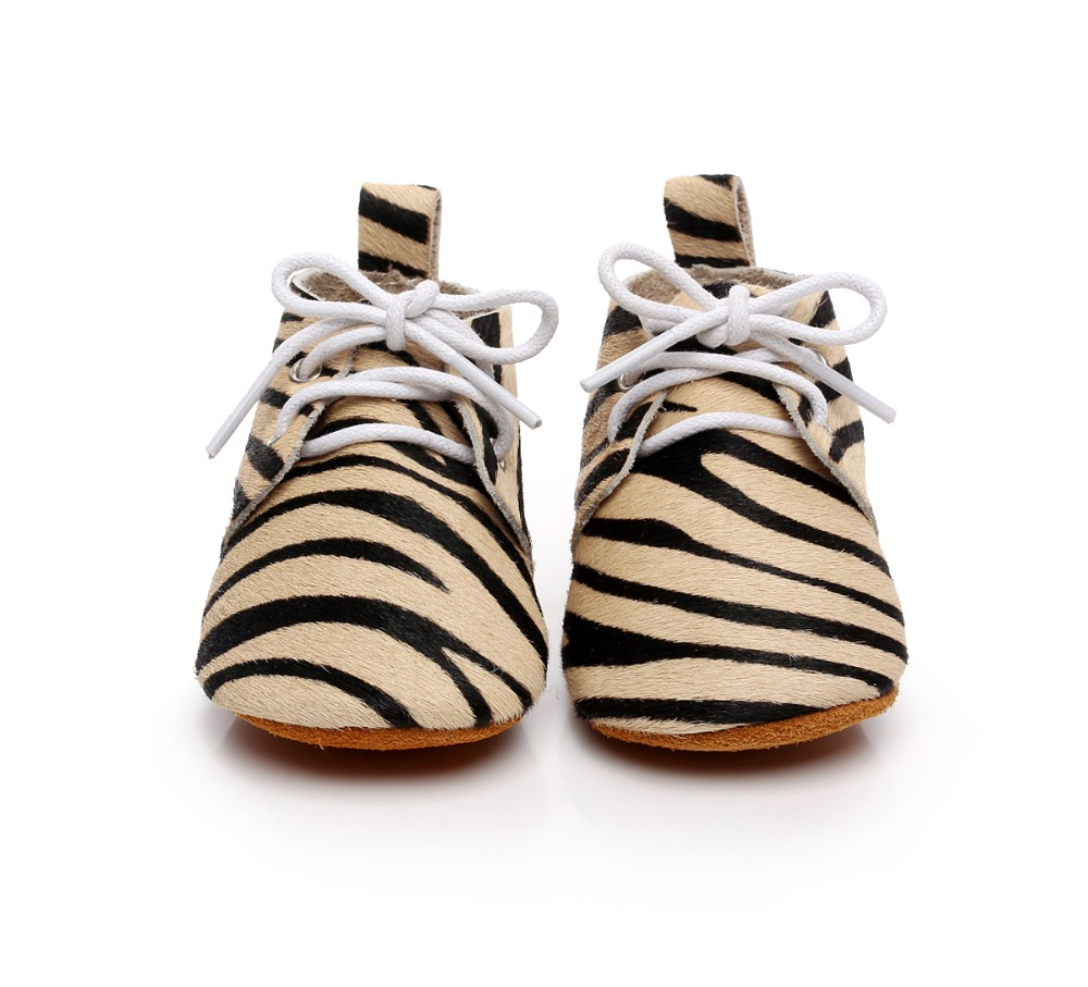 HONGTEYA Handmade horse hair Lace Up Genuine Leather Dot leopard Suede soft sole shoes baby Toddler Baby moccasins shoes new genuine leather handmade leopard toddler baby moccasins girls kids ballet shoes first walker toddler soft dress shoes