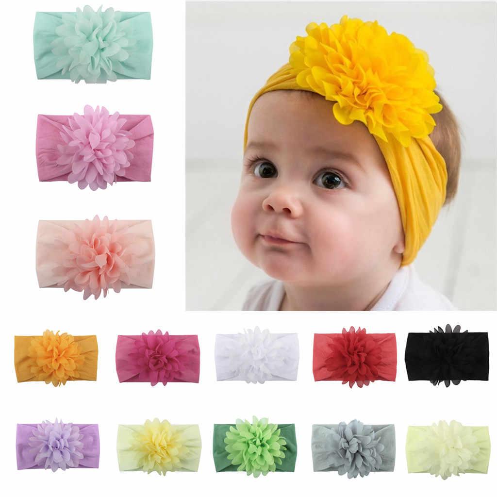 Аксессуары для волос для маленьких принцесс, цветочные резинки для волос, головные уборы для детей, аксессуары для детских головных уборов