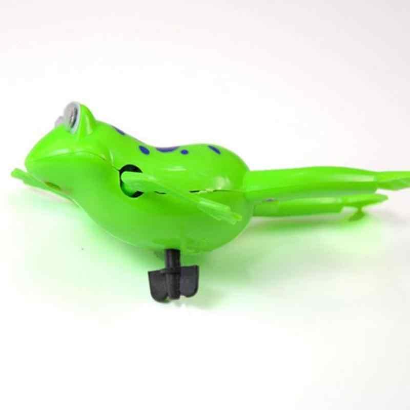 1PC เด็กน่ารักกบของเล่นเด็ก Wind-Up ของเล่นเด็กสระว่ายน้ำว่ายน้ำเล่นน้ำของเล่นเด็กของเล่นสีสุ่ม