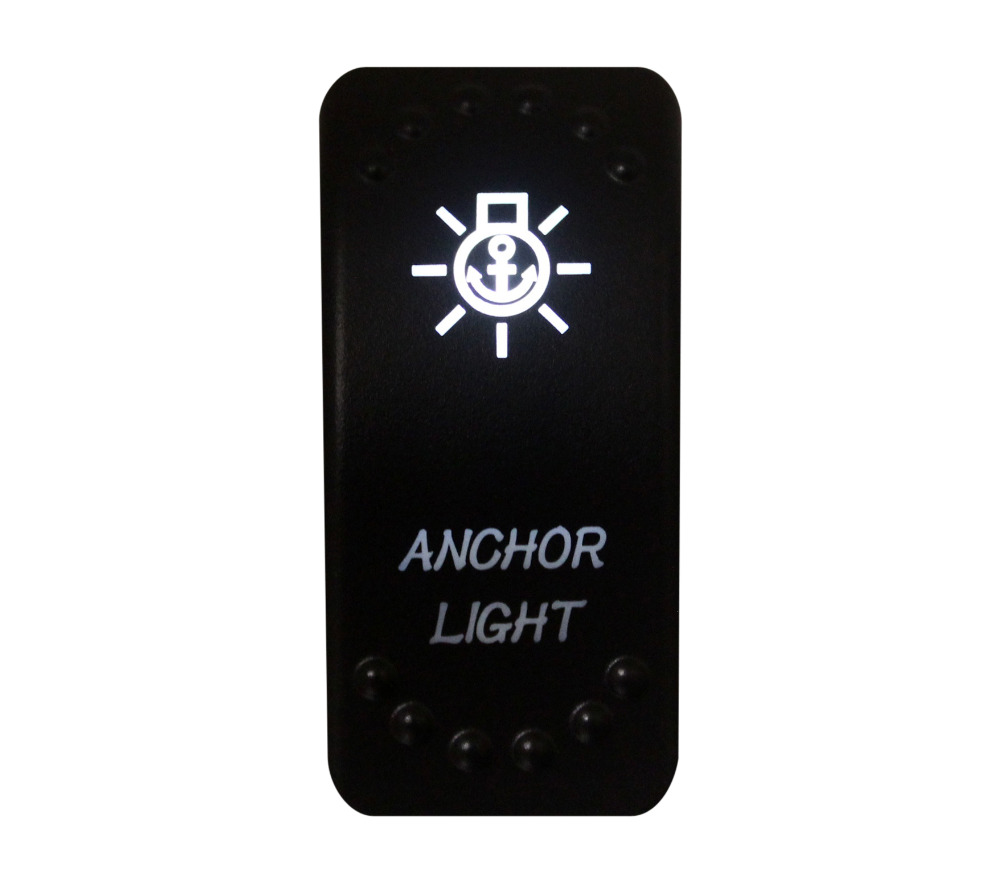 12v/24v Car Boat ANCHOR LIGHT Rocker Switch White Led 3 pin spst on-off Replacement for Carling ARB STYLE Waterproof IP66