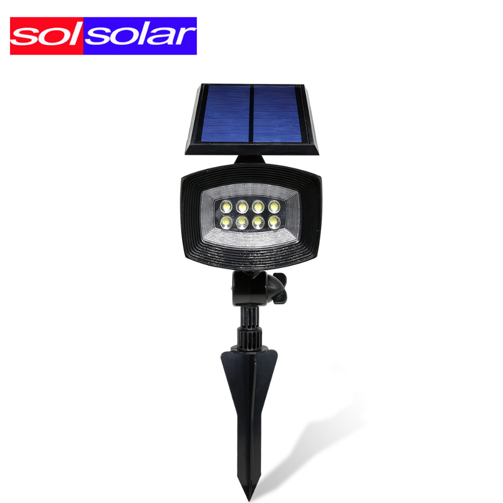 ФОТО SOLSOLAR 400lumen Outdoor Led Solar Light Patios Decks Pathways Stairways Security Solar Lamp LED Outdoor Garden Spotlights