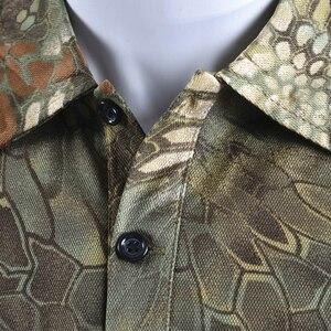 Image 5 - Mege מותג בגדי גברים של חולצות טקטי הסוואה פולו חולצה קיץ מזדמן בגדים עם תיקוני טיפון מרובה מהיר יבש