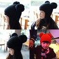2016 Nueva Otoño Invierno Estilo del Capó Sombrero del Cabrito Del Bebé Del Ganchillo Cap Sombreros Encantadores del Bebé Tapa de Protección Del Oído Sombreros De Lana De Invierno tapas