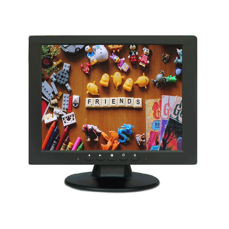 10.4 pouces TFT LED couleur PC Audio vidéo affichage VGA HDMI AV BNC entrée sécurité CCTV moniteur écran intégré haut-parleur