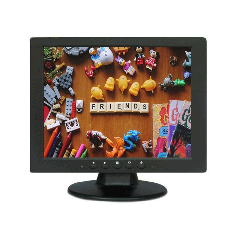 10.4 pouces TFT LED couleur PC Audio vidéo affichage VGA HDMI AV BNC entrée sécurité CCTV moniteur écran haut-parleur intégré
