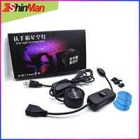ShinMan Süper Serin USB Araba Kol Dayama kutusu Starlight iç ışık Lazer projektör lambası Dekoratif atmosfer ışığı Tüm Araba Için