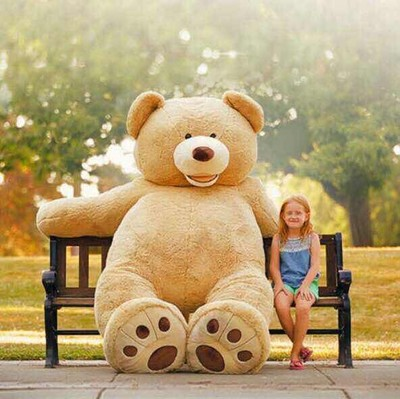 Cheap 200CM 78''inch giant stuffed teddy bear big large huge brown plush soft toy kid children doll girl Birthday Christmas gift kawaii 140cm fashion stuffed plush doll giant teddy bear tie bear plush teddy doll soft gift for kids birthday toys brinquedos